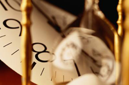 Clock and Hourglass
